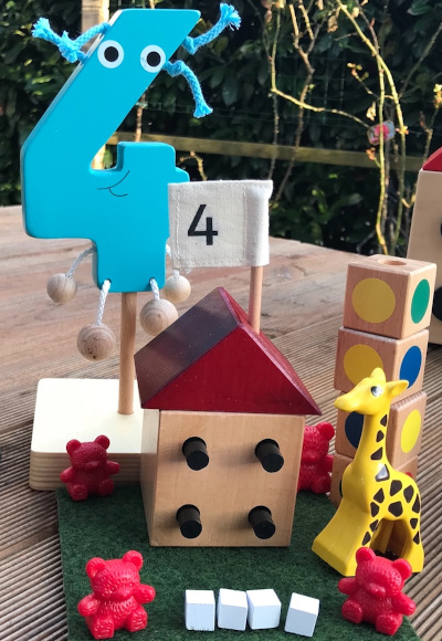 numberland haba wooden numbers houses shapes